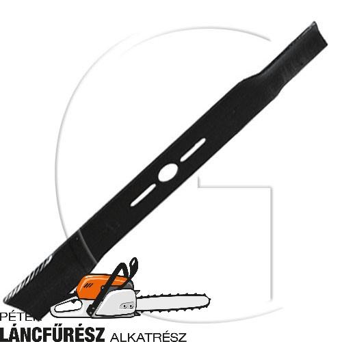 """Fűnyíró kés, L 450 (18"""") mm, Ø szélső furatok 9,5 x 38 mm, vastagság 4,6 mm ()"""