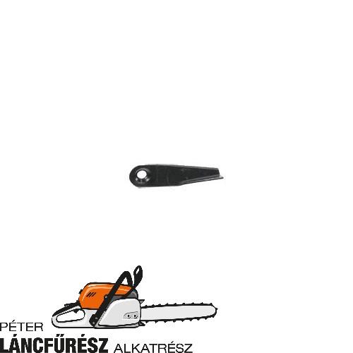 Westwood 3771 fűnyíró kés, L 174 mm, W 50 mm, Ø tengely furat 15 mm