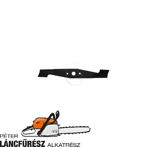 Alko BEM1301 513631, 117721 fűnyíró kés, L 370 mm, Ø szélső furatok 8 mm  ()