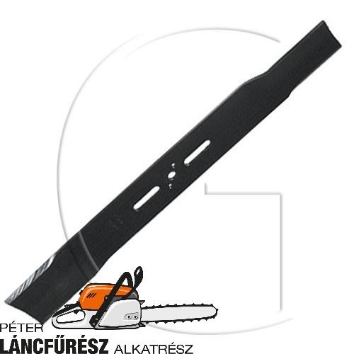 """Fűnyíró kés, L 500 (20"""") mm, Ø szélső furatok 9,5 x 38, vastagsag 3,6, W 57 mm ()"""