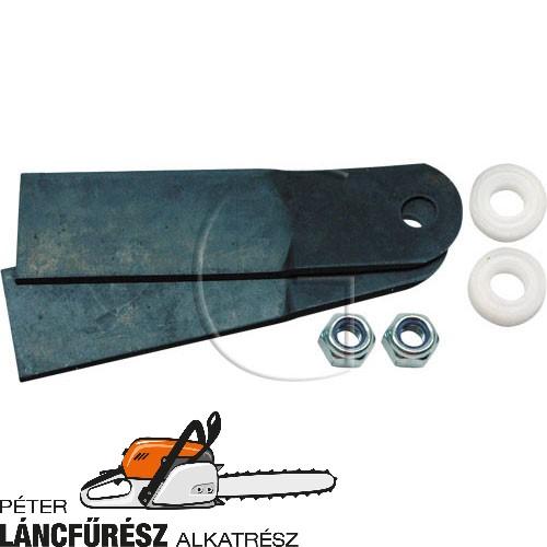 Klippo 60.36-4 fűnyíró kés, L 114 mm, Ø tengely furat 9 mm