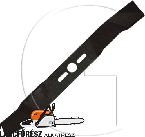 """Fűnyíró kés, L 500 (20"""") mm, Ø szélső furatok 9,5 x 38 mm, vastagság 3,6 mm ()"""