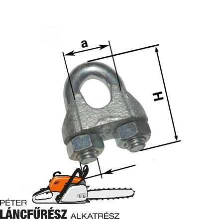 Kötélbilincs 16 mm, galv. acél, DIN741, 1 db, magasság (H) 63,00 mm ()